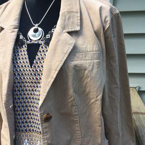 Old Navy corduroy jacket. Tan/khaki. Size XL